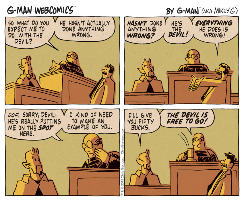 G-Man Webcomics #253: The Best Deal The Devil Ever Made