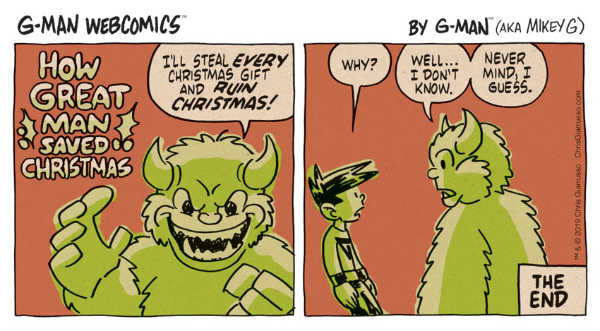 G-Man Webcomics #255: How Great Man Saved Christmas