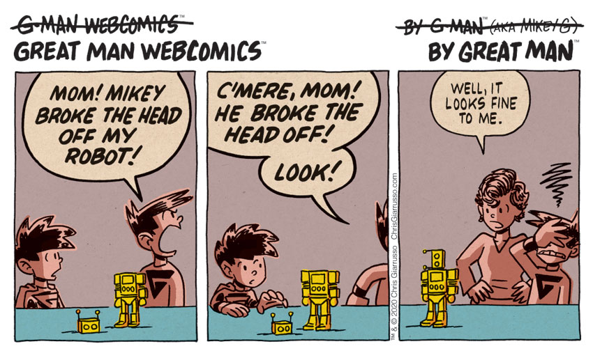 G-Man Webcomics #258: Not Awesome Robot