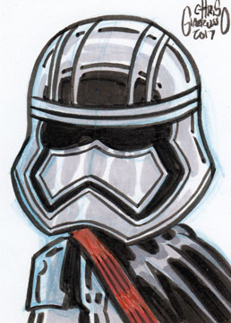 Chris G daily sketch card – Captain Phasma