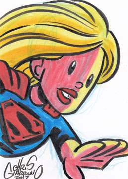 Sketch card – Supergirl