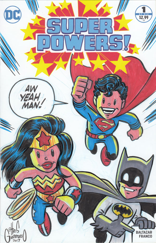 Super Powers sketch cover by Chris Giarrusso