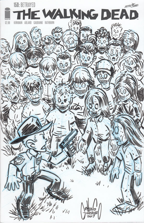 The Walking Dead sketch cover by Chris Giarrusso
