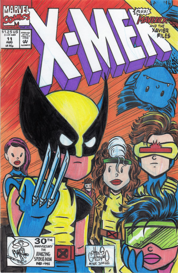 X-Men #11 tribute sketch cover by Chris Giarrusso