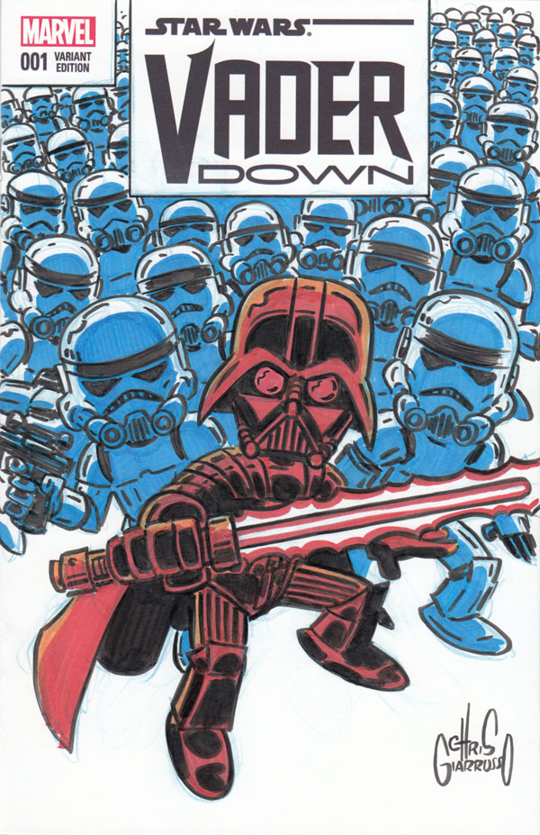 Darth Vader and Stormtroopers by Chris Giarrusso