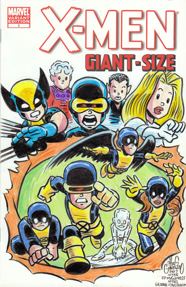 X-MEN GIANT SIZE sketch cover by Chris Giarrusso