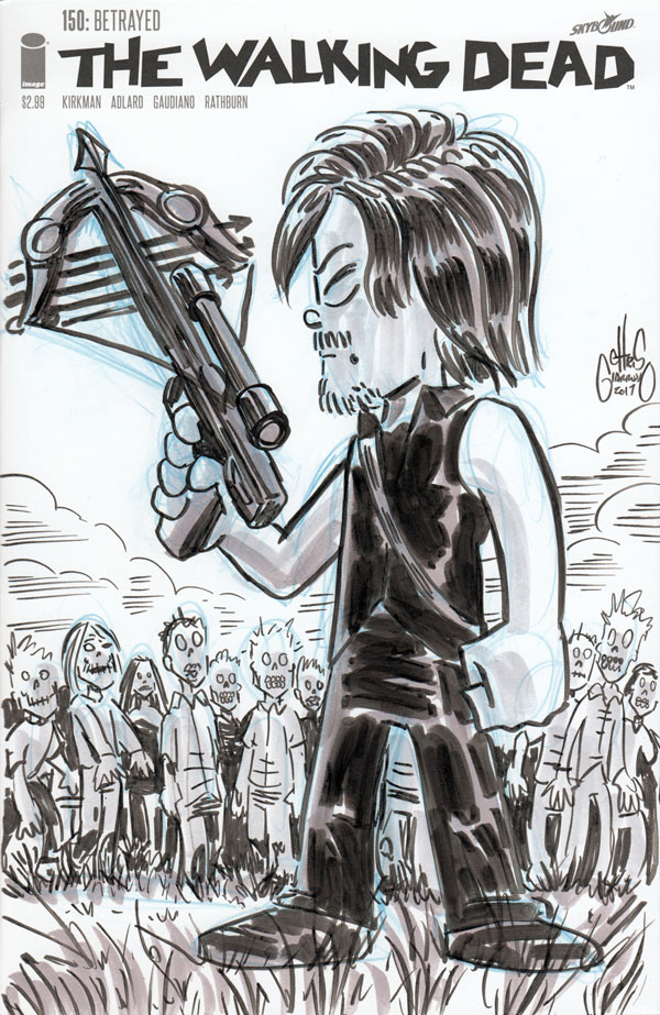 Daryl Dixon sketch by Chris Giarrusso