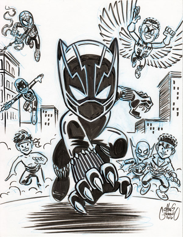 Black Panther and Pals by Chris Giarrusso