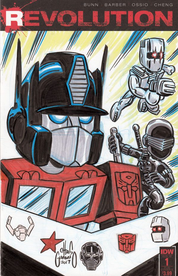 Revolution sketch by Chris Giarrusso