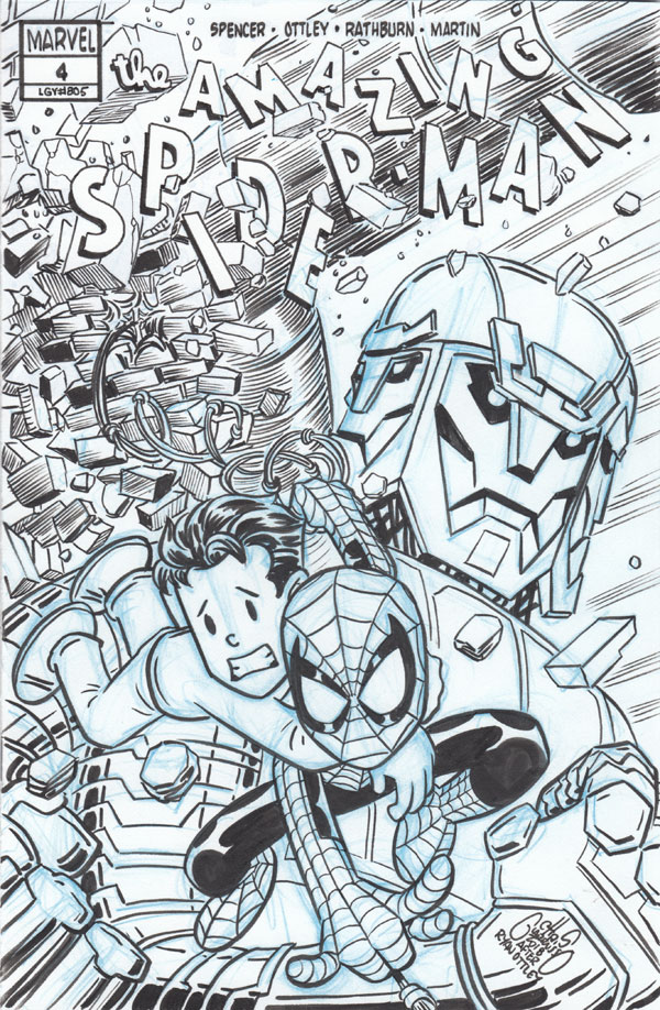 Amazing Spider-Man #4 (2018) cover tribute by Chris Giarrusso