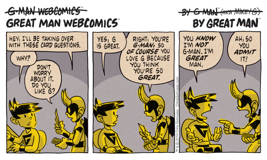 G-Man Webcomics #210: G is for Grilled