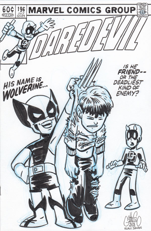 Daredevil #196 cover tribute by Chris Giarrusso