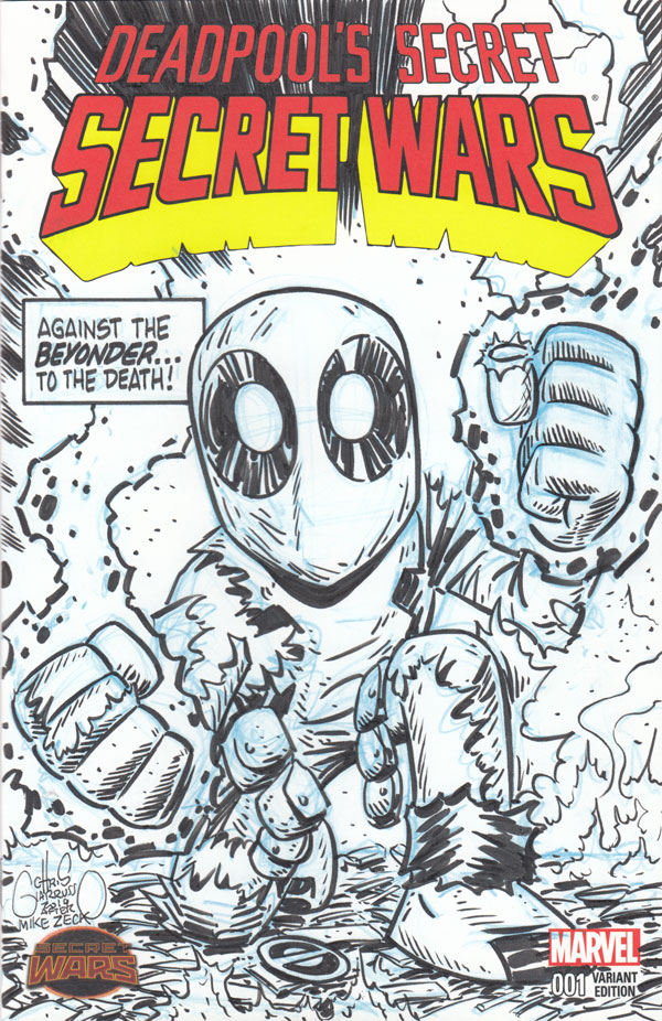 Deadpool Secret Wars 10 sketch cover by Chris Giarrusso