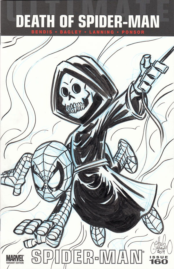 Spider-Man sketch cover by Chris Giarrusso