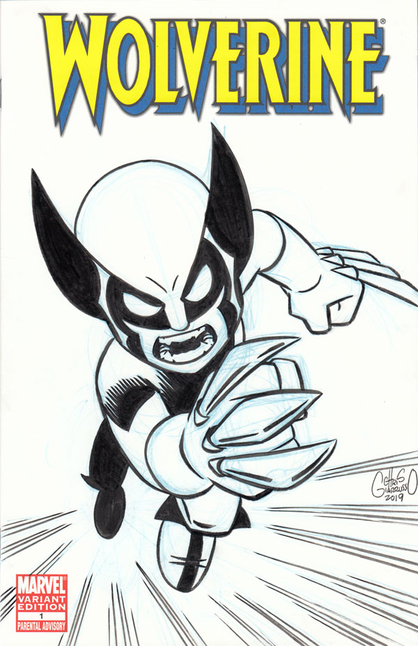 Wolverine sketch cover by Chris Giarrusso