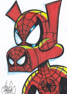 Spider-Ham sketch card by Chris Giarrusso