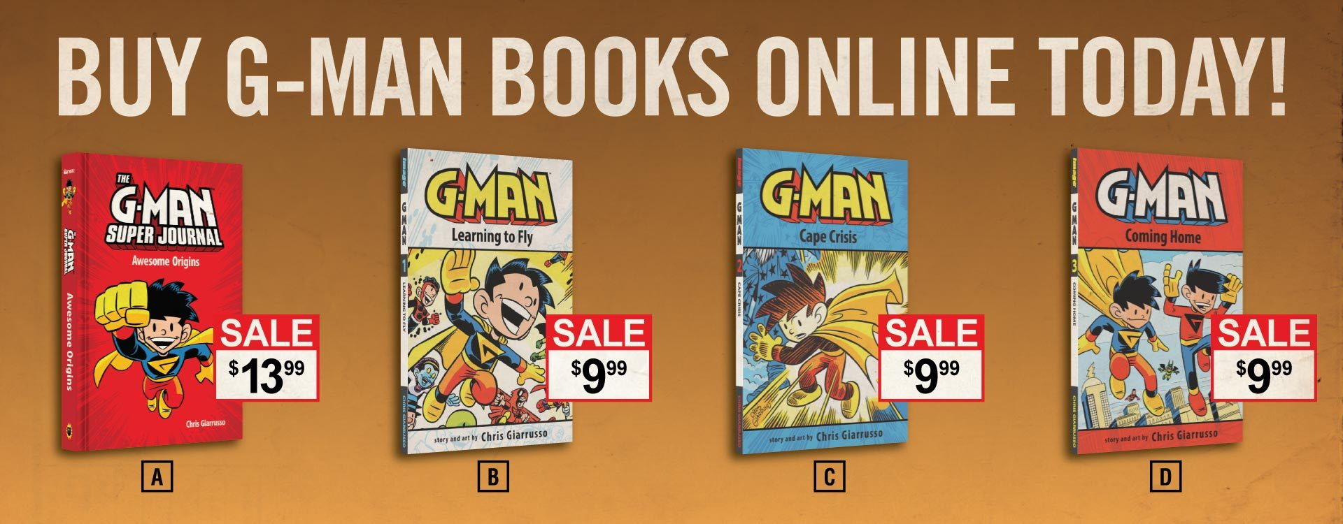 Buy G-Man books online today!