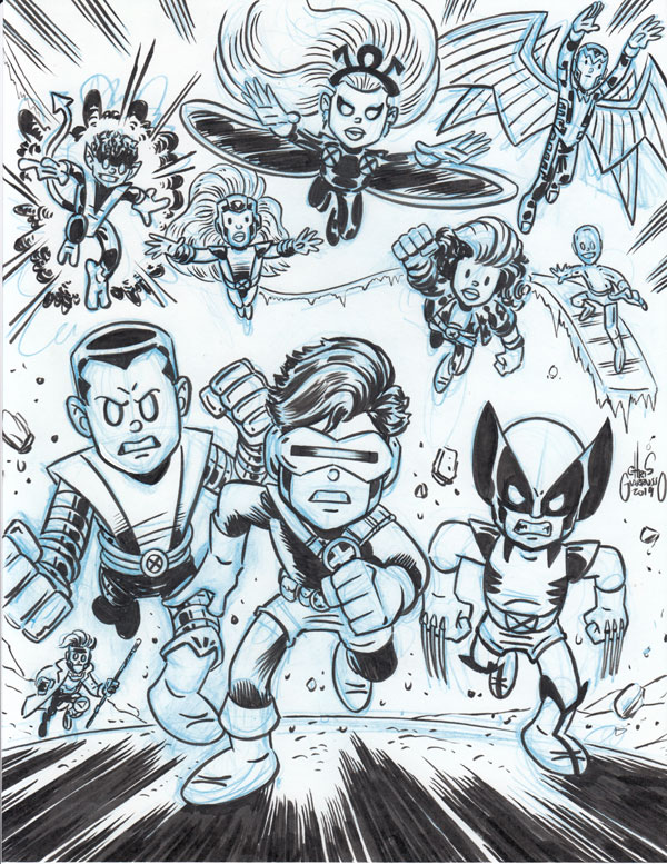 X-Men sketch by Chris Giarrusso