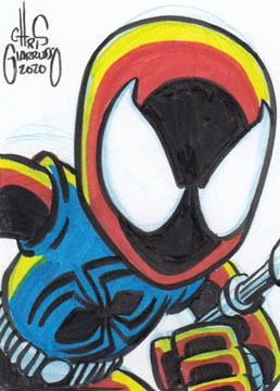 Scarlet Spider sketch card by Chris Giarrusso