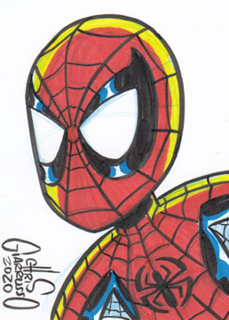 Spider-Man sketch card by Chris Giarrusso
