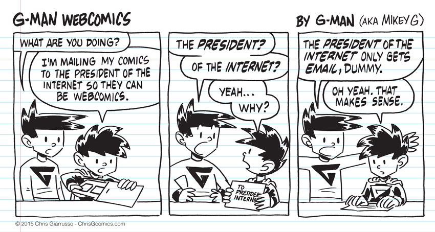 G-Man Webcomics #8: Email