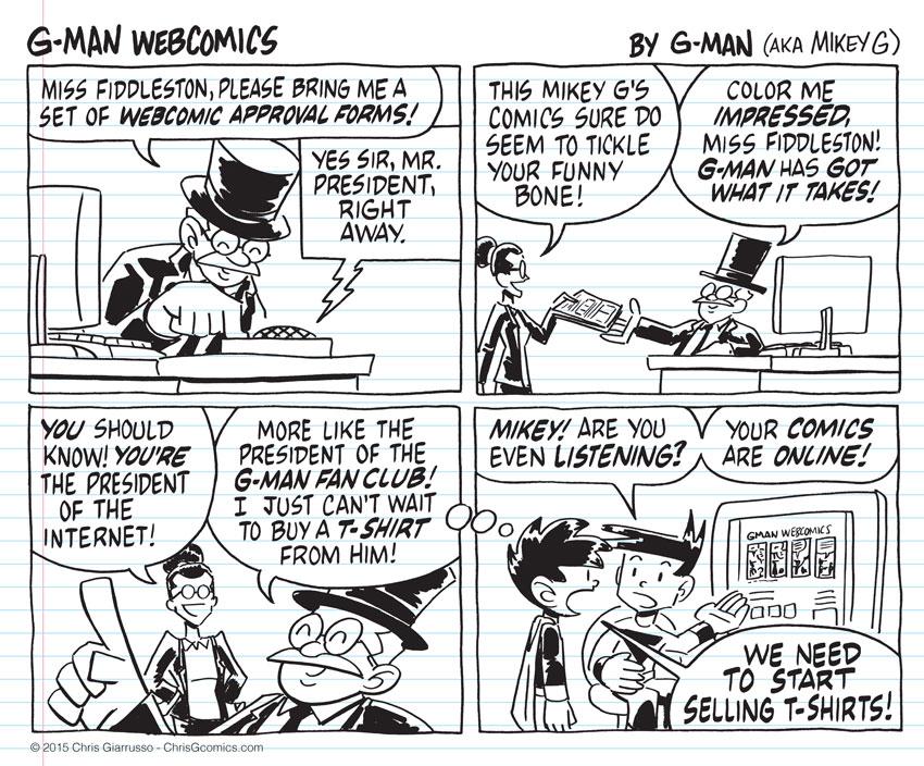 G-Man Webcomics #12: Online