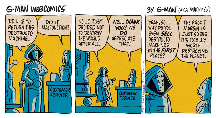 G-Man Webcomics #148: Return of Destructo
