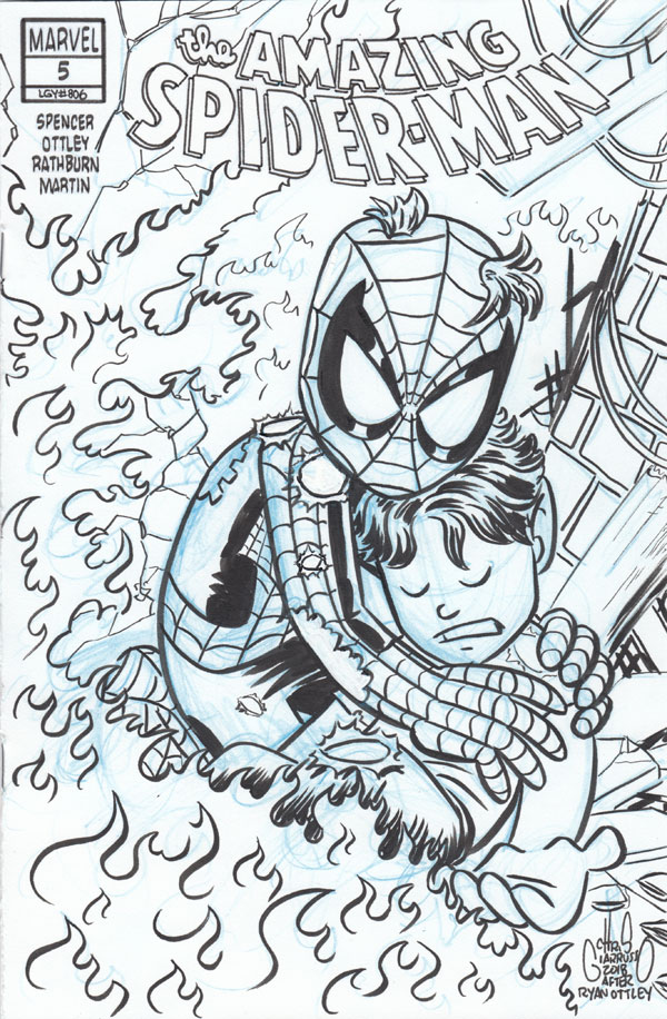Amazing Spider-Man #5 Sketch Cover by Chris Giarrusso