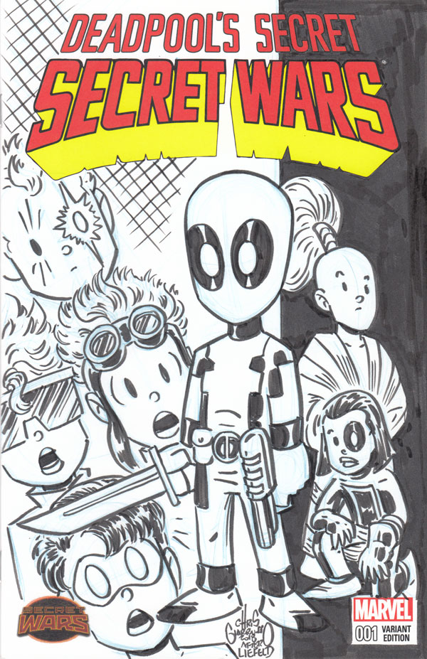 Deadpool's Secret Secret Wars sketch cover by Chris Giarrusso