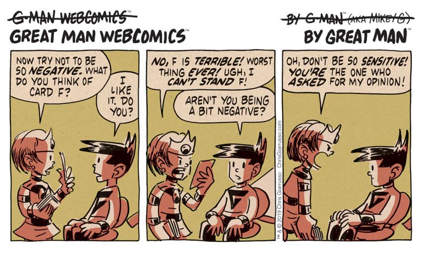 G-Man Webcomics #208: Feedback