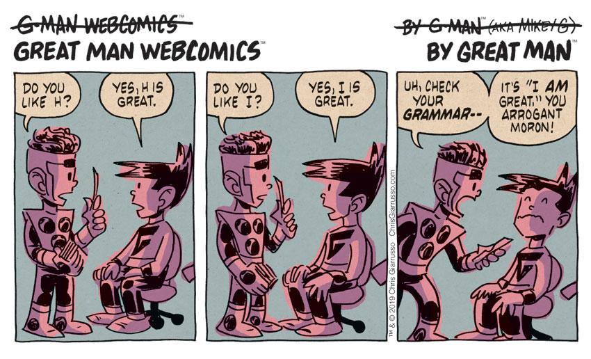 G-Man Webcomics #211: G is for Grammar