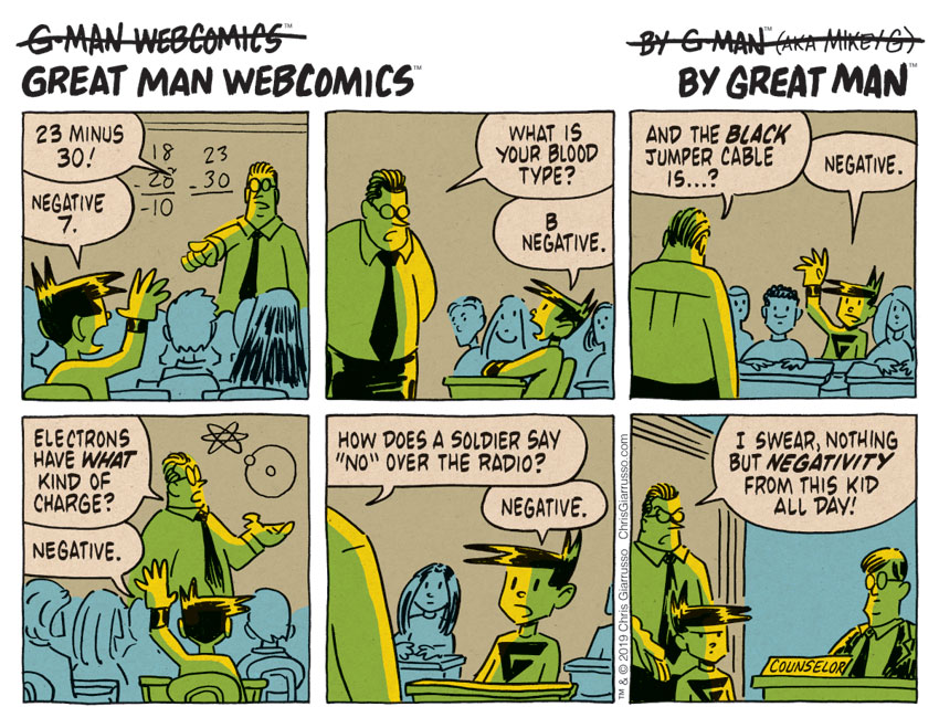G-Man Webcomics #212: The Theory of Negativity
