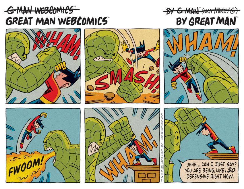 G-Man Webcomics #217: Defense II