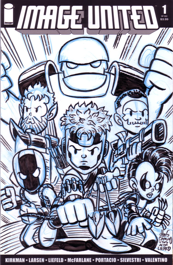 Youngblood sketch cover by Chris Giarrusso