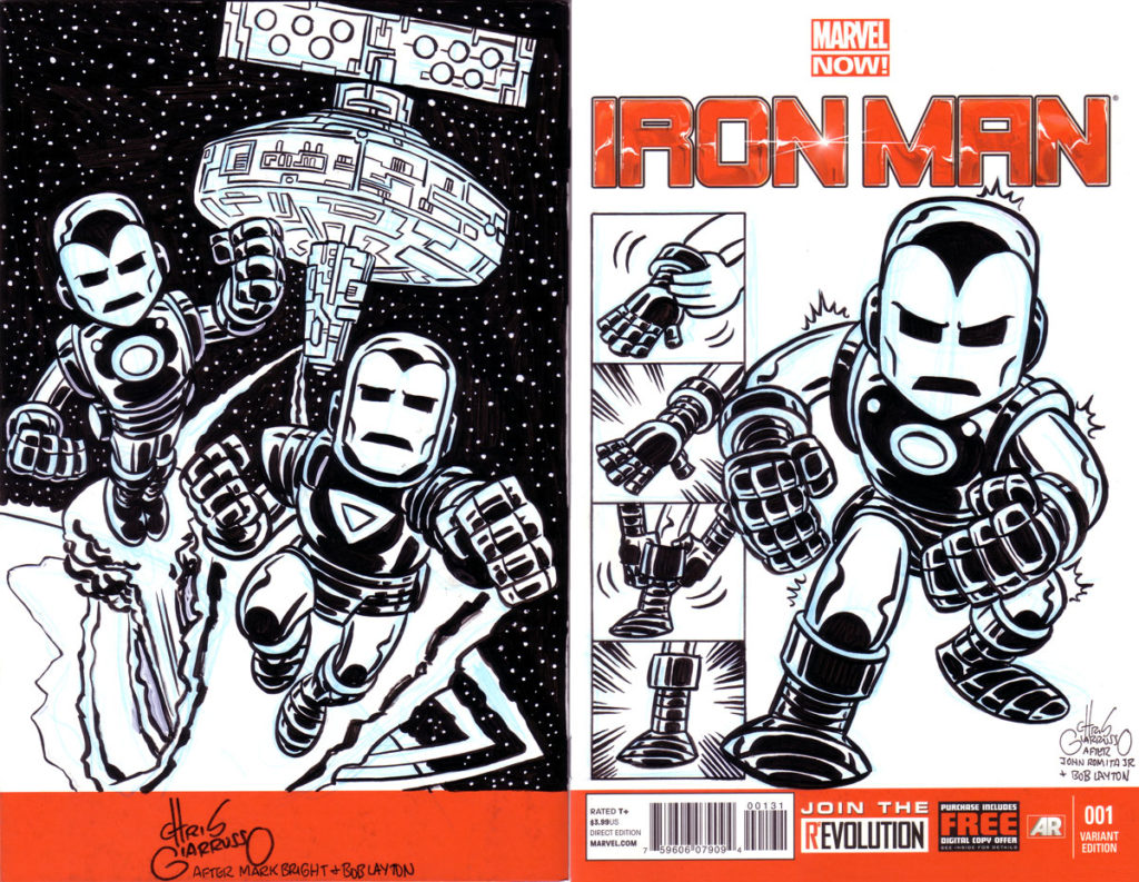 Iron Man sketch cover by Chris Giarrusso