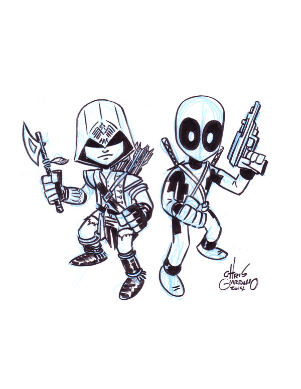 Connor Kenway and Deadpool