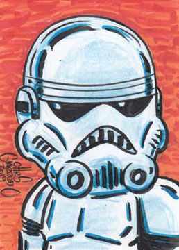 Stormtrooper sketch card by Chris Giarrusso
