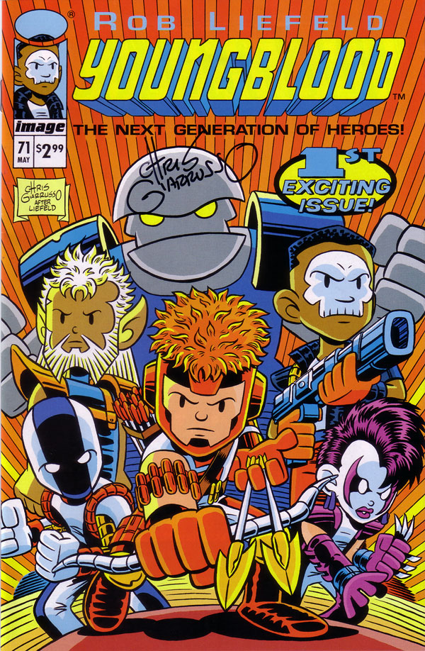 Image Comics Variant Cover Youngblood by Chris Giarrusso
