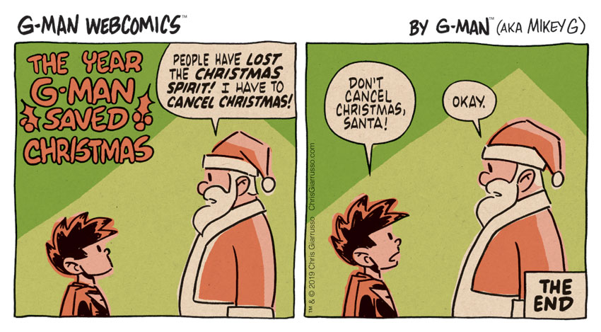 G-Man Webcomics #254: The Year G-Man Saved Christmas