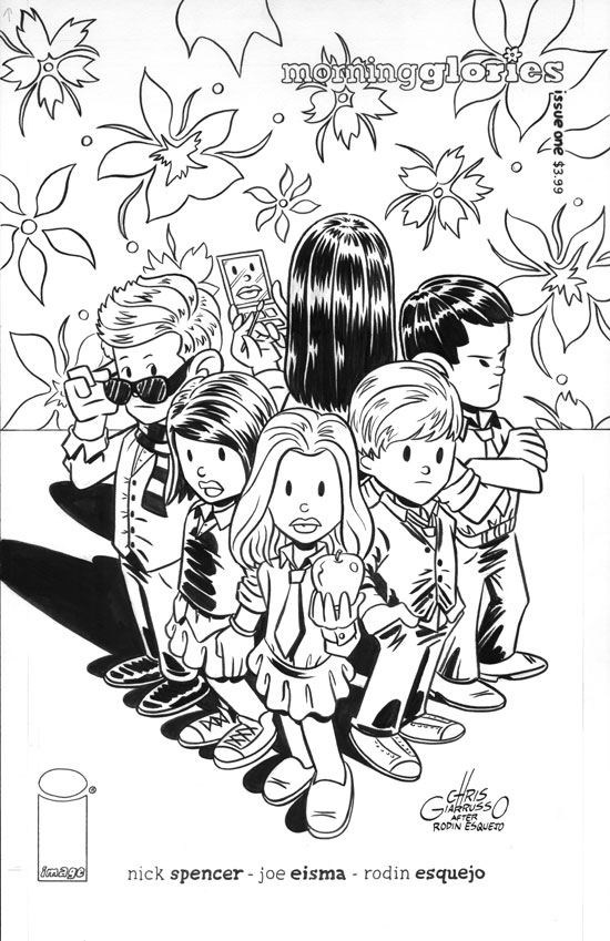 Original art by Chris Giarrusso, Image Morning Glories ariant Cover