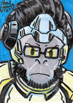 Winston sketch card by Chris Giarrusso