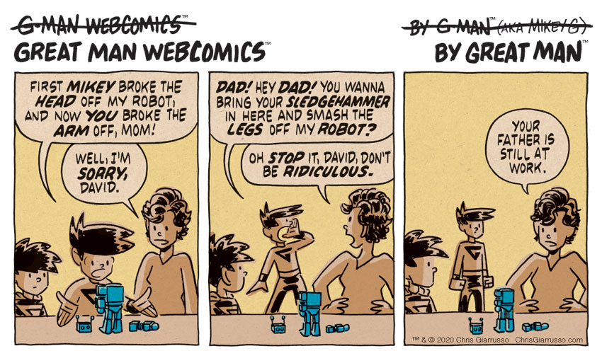 G-Man Webcomics #261: Smashy Smashy