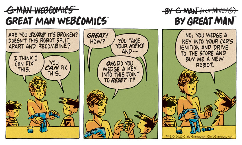 G-Man Webcomics #262: The Key to Fixing a Robot