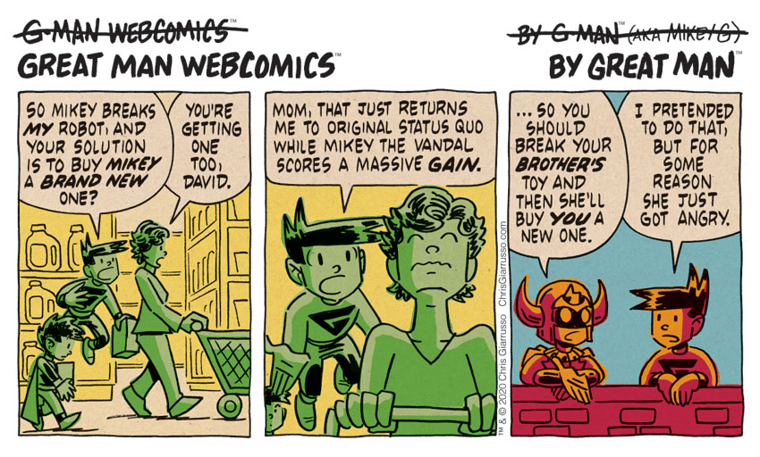 G-Man Webcomics #264: No Bad Deed Goes Not Unpunished
