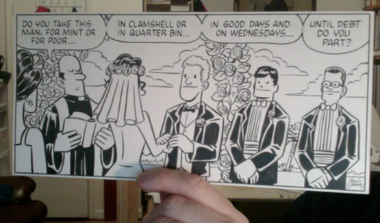 Tales from the Con original art by Chris Giarrusso, Wedding