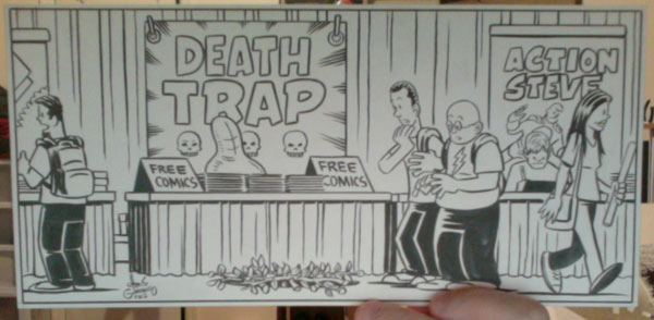 Tales from the Con original art by Chris Giarrusso, Death Trap
