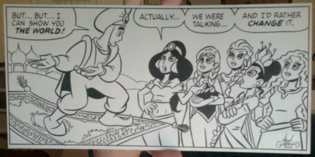 Tales from the Con original art by Chris Giarrusso, Aladdin