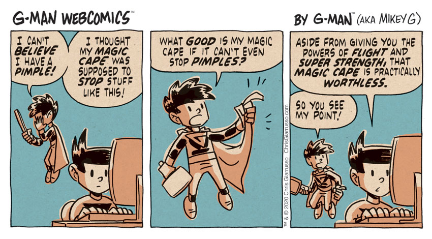 G-Man Webcomics #267: Pimple Power