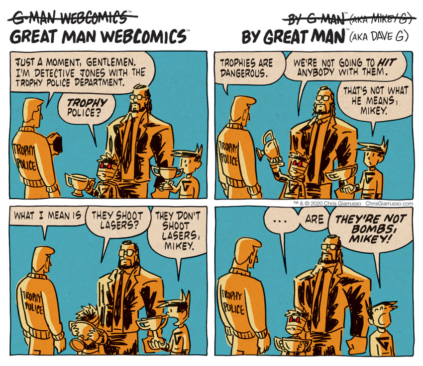 G-Man Webcomics #299: Trophy Police