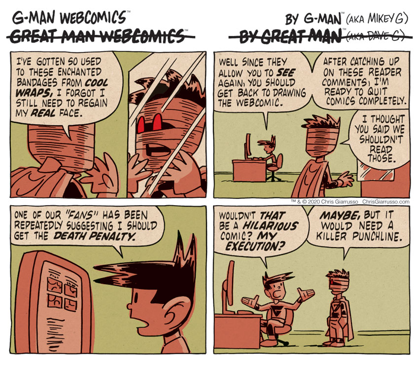 G-Man Webcomics #303: Saving Face